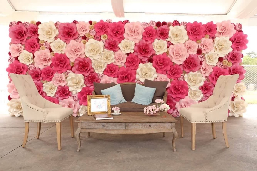 Paper flower wall. Paper Flower Wall Rental. Sugar Land Rental. Houston Paper Flower Wall Rental. Marie Antoinette. Baby shower. Wedding decor. Houston wedding decor. Houston, TX. Pink Paper Flower Wall. Paper Flower artistry. Paper flower artistry.