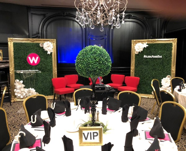 Step and repeat, round Paper flower wall, circle Paper flower wall, Houston Paper Flowers, Houston ceremony backdrop, Houston backdrop rental, corporate event in Houston,